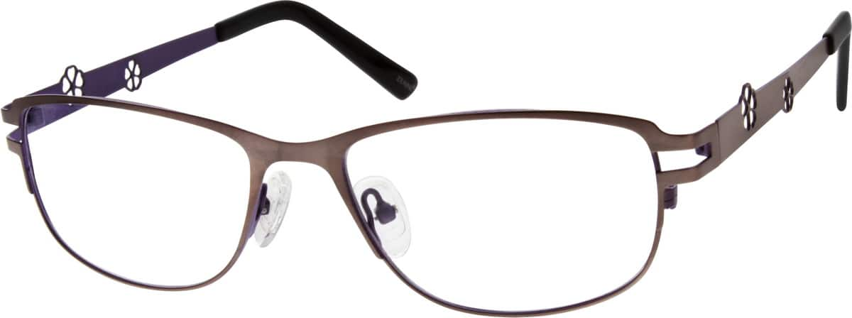 Women Full Rim Stainless Steel Eyeglasses #696321