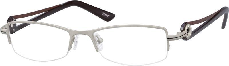 womens-half-rim-stainless steel-rectangle-eyeglass-frames-696712
