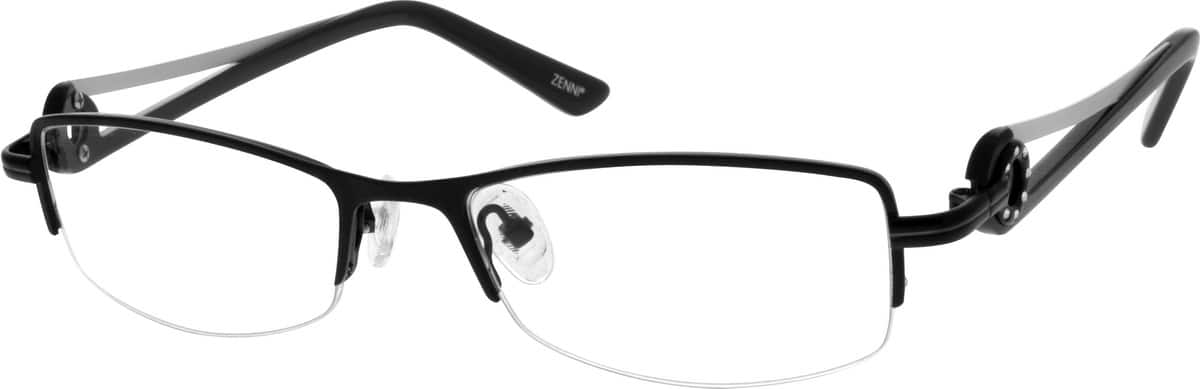 Women Half Rim Stainless Steel Eyeglasses #696712