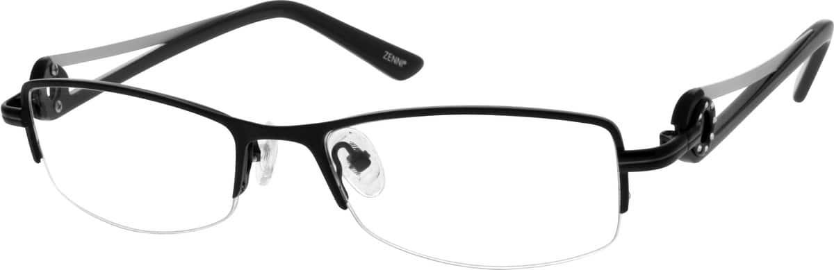 WomenHalf RimStainless SteelEyeglasses #696712