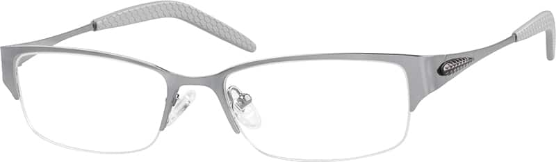 Men Half Rim Stainless Steel Eyeglasses #697612