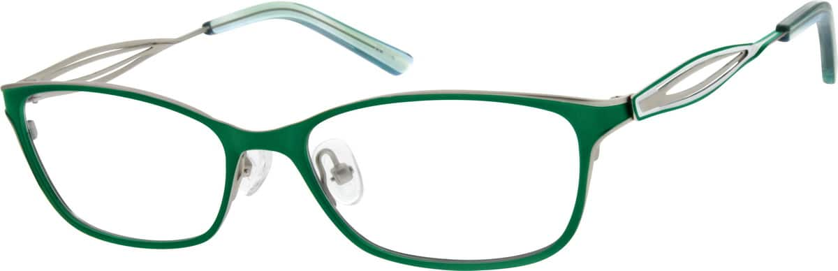 Women Full Rim Stainless Steel Eyeglasses #697921