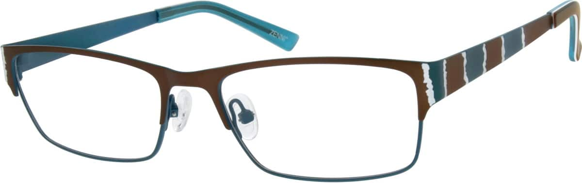 Women Full Rim Stainless Steel Eyeglasses #698115