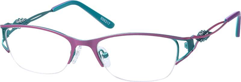 WomenHalf RimStainless SteelEyeglasses #698317