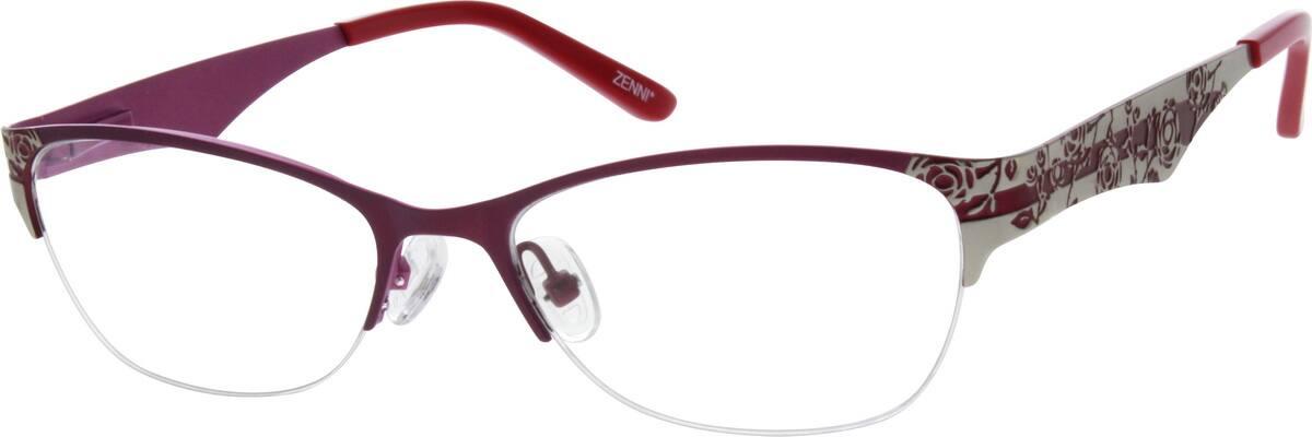 WomenHalf RimStainless SteelEyeglasses #698421