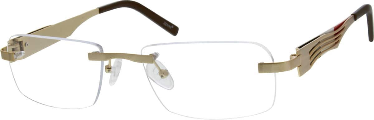 Men Rimless Stainless Steel Eyeglasses #698611