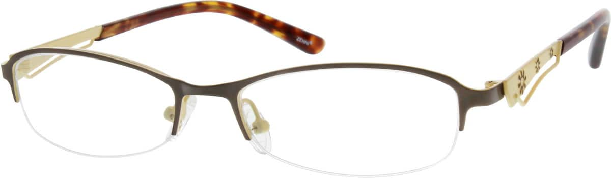 Women Half Rim Stainless Steel Eyeglasses #699112