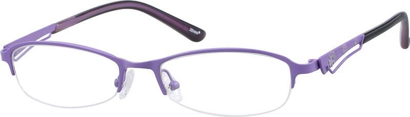 womens-stainless-steel-half-rim-oval-eyeglass-frame-699117
