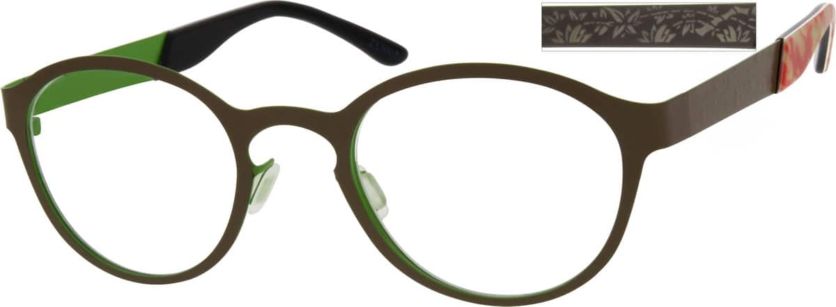 Women Full Rim Stainless Steel Eyeglasses #699218