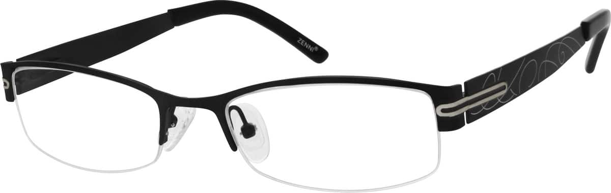 Women Half Rim Stainless Steel Eyeglasses #699515