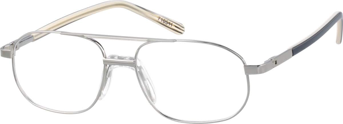 Gold Metal Alloy Full-Rim Frame with Saddle Bridge #7105 ...