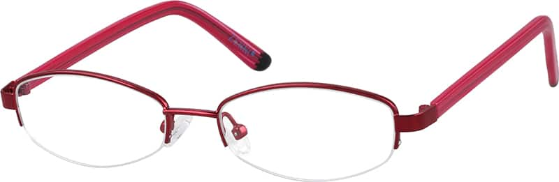 711018-stainless-steel-half-rim-frame-with-acetate-temples
