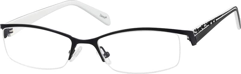 Women Half Rim Mixed Materials Eyeglasses #719221