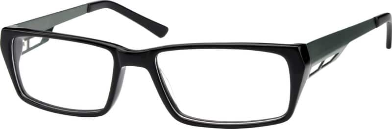 Men Full Rim Mixed Materials Eyeglasses #722416