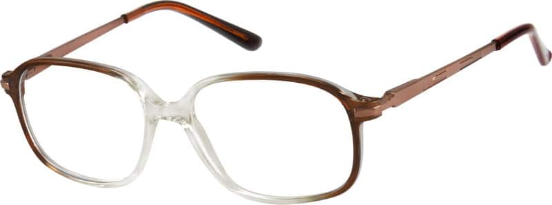 Brown Plastic Full-Rim Frame with Spring Hinges #7225 ...