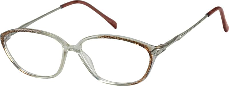 Brown Plastic Full-Rim Frame with Spring Hinges #7229 ...