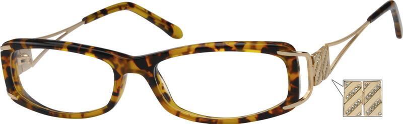 WomenFull RimMixed MaterialsEyeglasses #724618