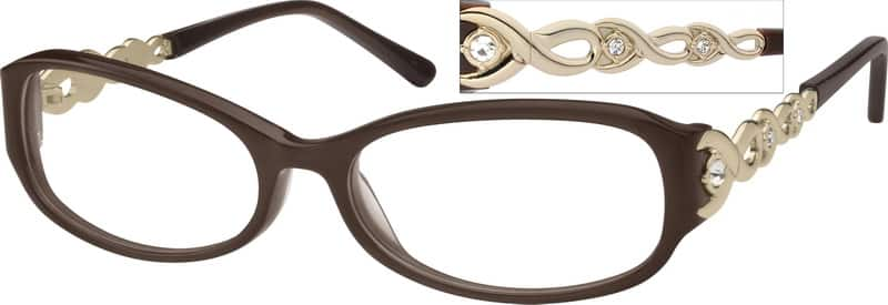 Women Full Rim Mixed Materials Eyeglasses #724718
