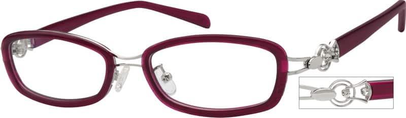 WomenFull RimMixed MaterialsEyeglasses #724917