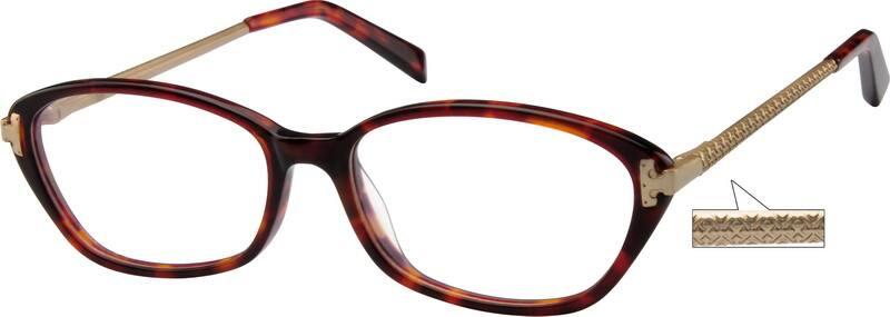 WomenFull RimMixed MaterialsEyeglasses #726321