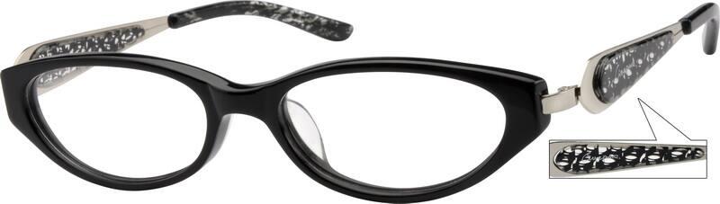 WomenFull RimMixed MaterialsEyeglasses #726517