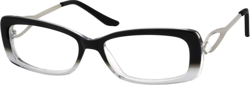 Women Full Rim Mixed Materials Eyeglasses #726821