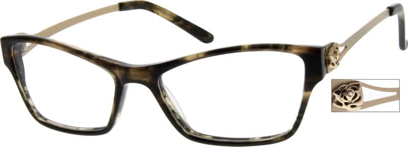 Women Full Rim Mixed Materials Eyeglasses #727615