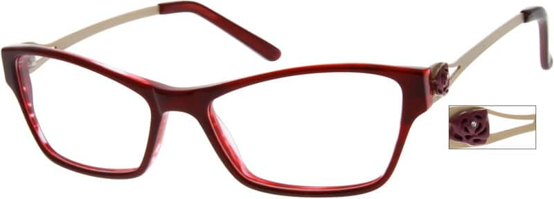 Women Full Rim Mixed Materials Eyeglasses #727618