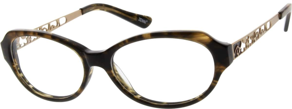 Women Full Rim Mixed Materials Eyeglasses #729425