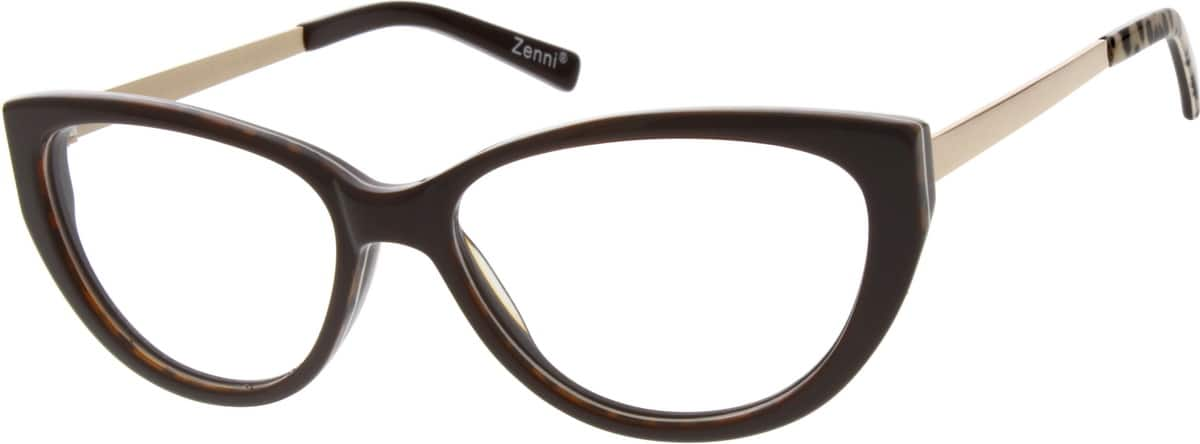 Women Full Rim Mixed Materials Eyeglasses #729715