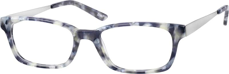 Unisex Full Rim Mixed Materials Eyeglasses #729812