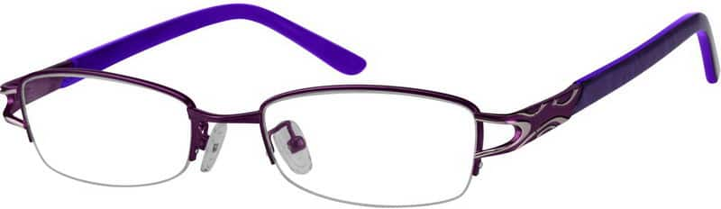 Women Half Rim Mixed Materials Eyeglasses #730821