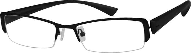 731021-stainless-steel-half-rim-frame-with-plastic-temples