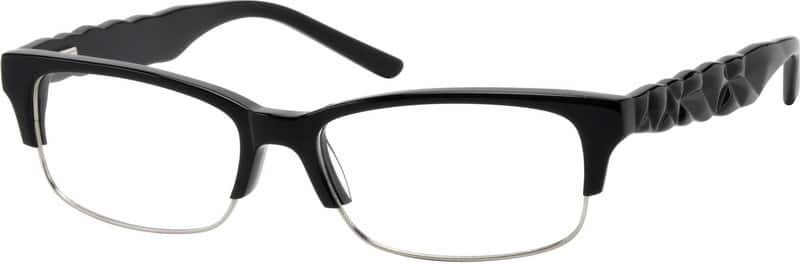 Men Full Rim Mixed Materials Eyeglasses #734025