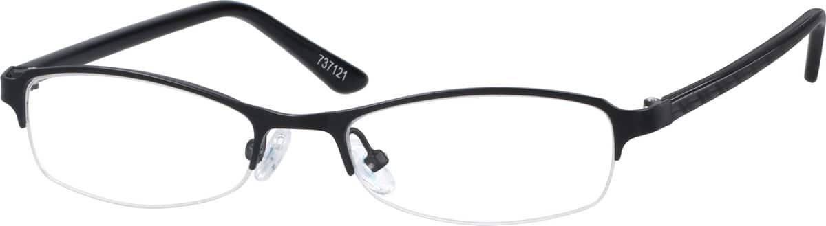 Boy Half Rim Mixed Materials Eyeglasses #737116