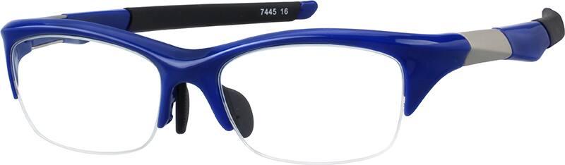 UnisexHalf RimAcetate/PlasticEyeglasses #744516
