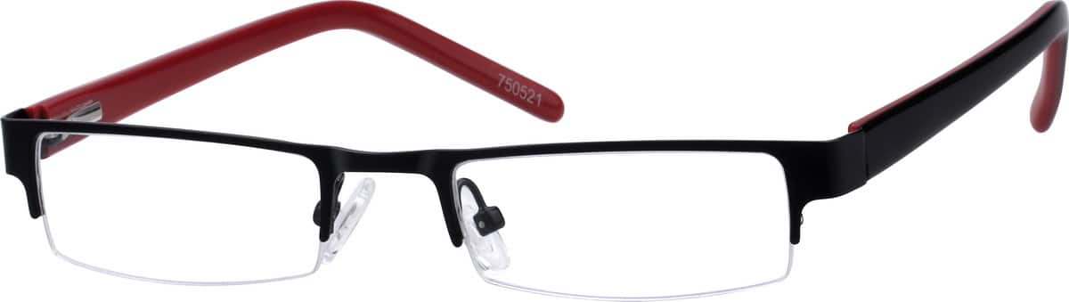 Boy Half Rim Mixed Materials Eyeglasses #750511
