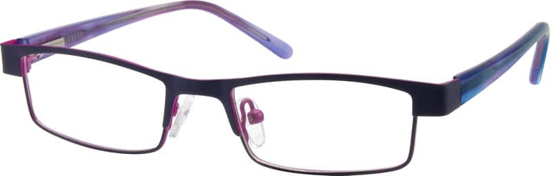 Kids Full Rim Mixed Materials Eyeglasses #752717