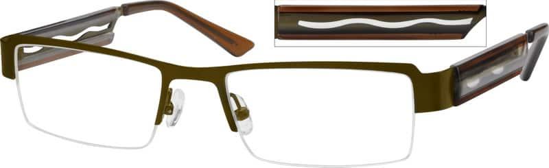 MenHalf RimMixed MaterialsEyeglasses #753015