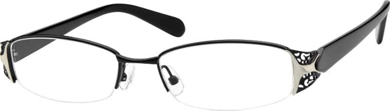 WomenHalf RimMixed MaterialsEyeglasses #753921