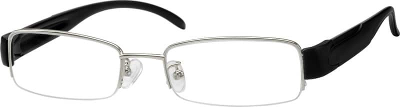 Men Half Rim Mixed Materials Eyeglasses #754414