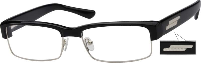 Men Full Rim Mixed Materials Eyeglasses #754525