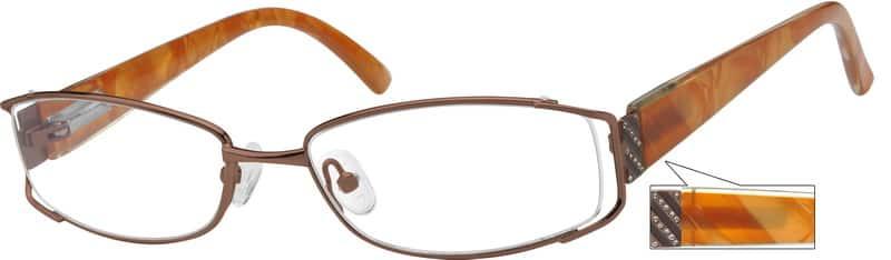WomenFull RimMixed MaterialsEyeglasses #754915