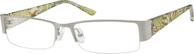 Women Half Rim Mixed Materials Eyeglasses #755011