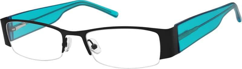 WomenHalf RimMixed MaterialsEyeglasses #755115