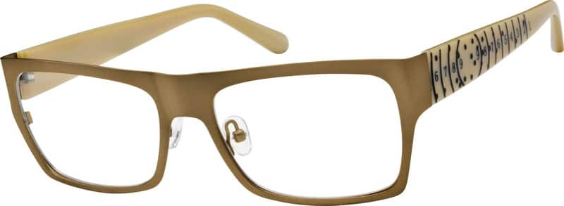 Men Full Rim Mixed Materials Eyeglasses #755415