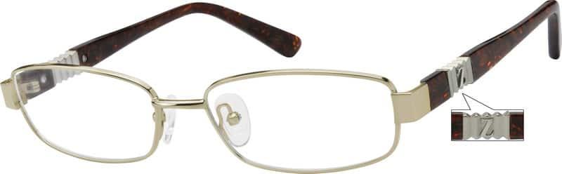 UnisexFull RimMixed MaterialsEyeglasses #756112
