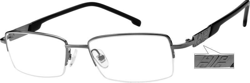 MenHalf RimMixed MaterialsEyeglasses #756711