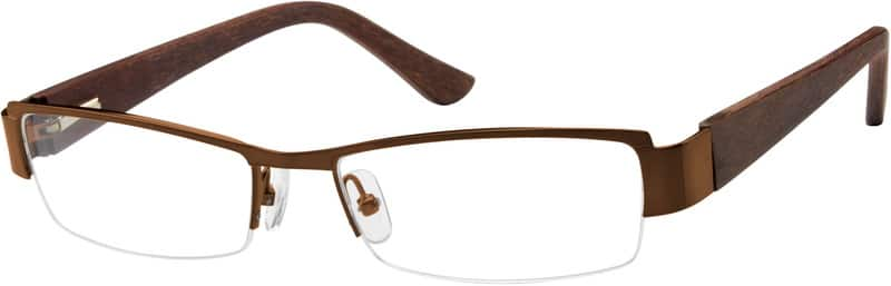 Men Half Rim Mixed Materials Eyeglasses #759312