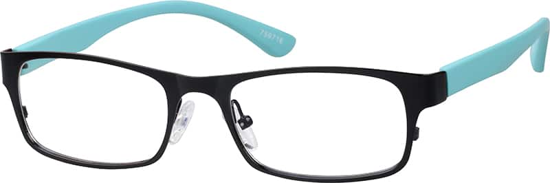 Unisex Full Rim Mixed Materials Eyeglasses #759718